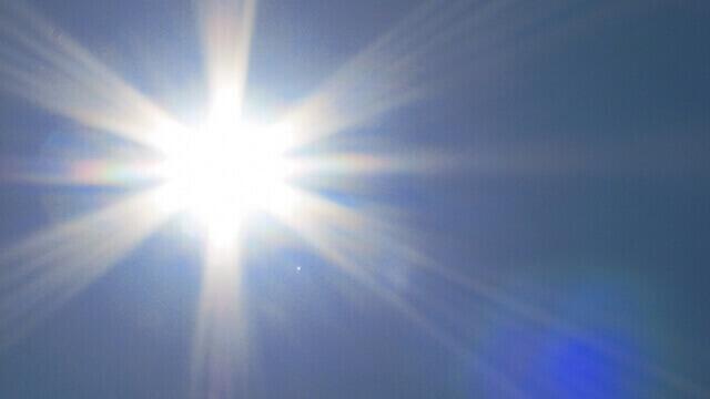 まぶしい日差しと紫外線